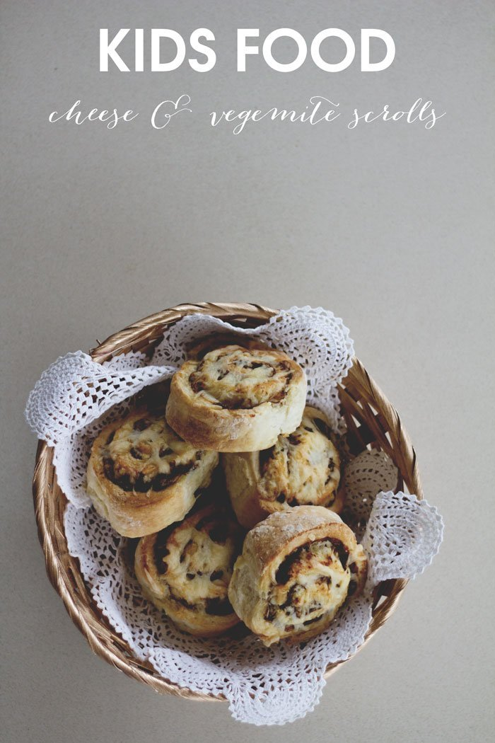 tiny & little's easy cheese & vegemite scrolls