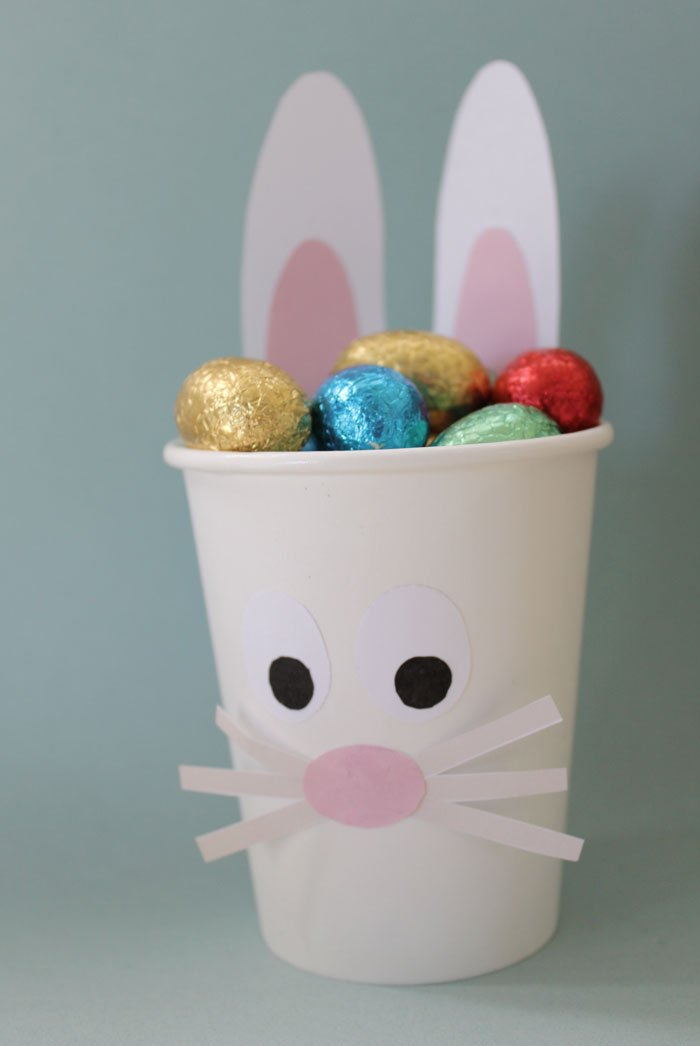 Easter kids craft - Kids DIY Easter Bunny Cup