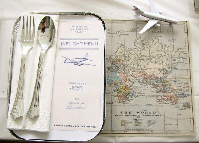 Mini Mocha Vintage Airplane Party