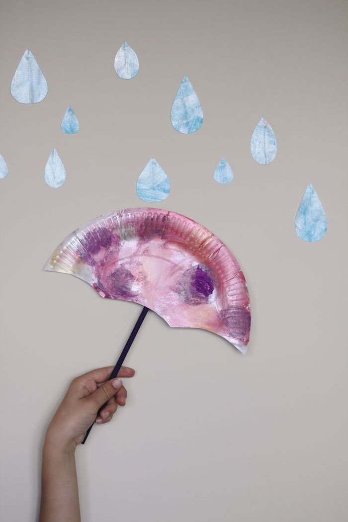 winter umbrella craft