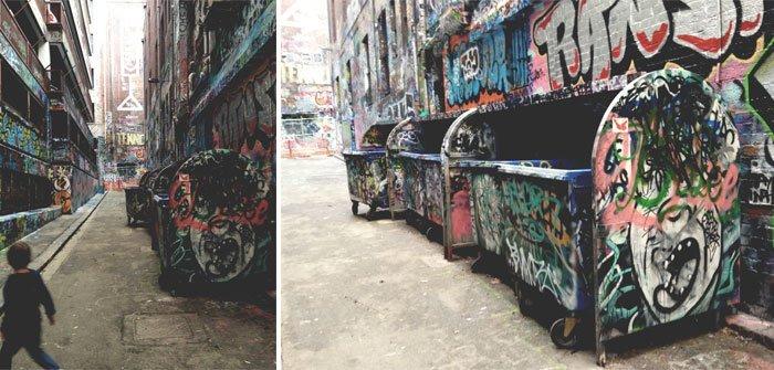 Melbourne with Kids - Hosier Lane, Melbourne CBD