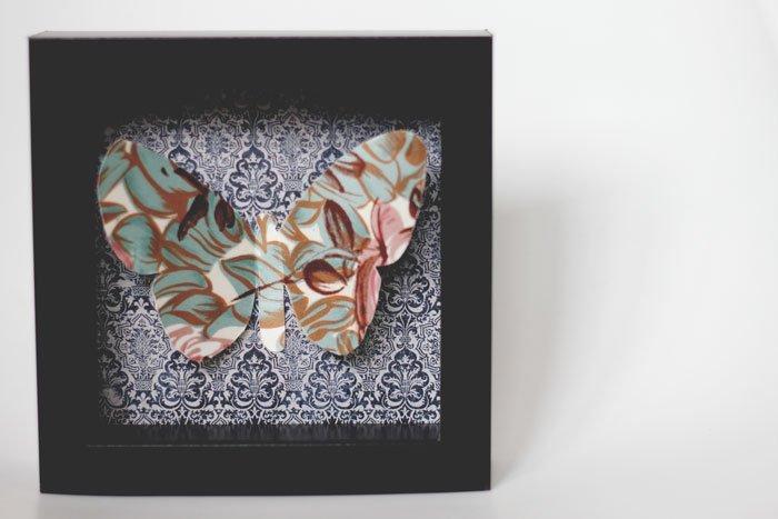 DIY flutterby 3D art