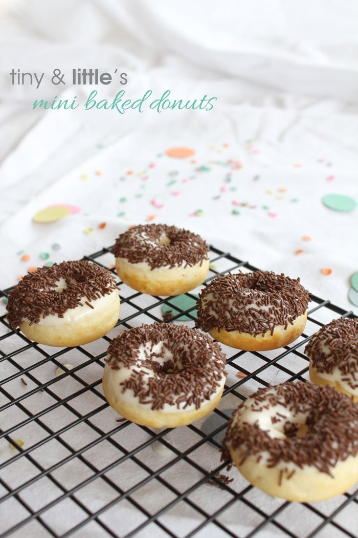 mini baked donuts - tiny & little