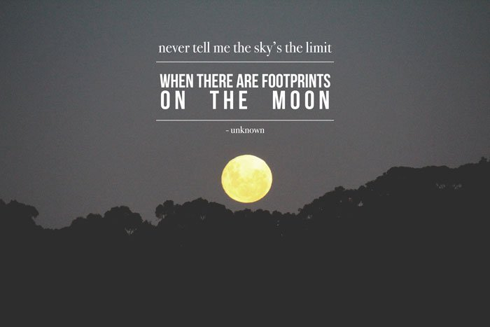 Quote - there are footprints on the moon
