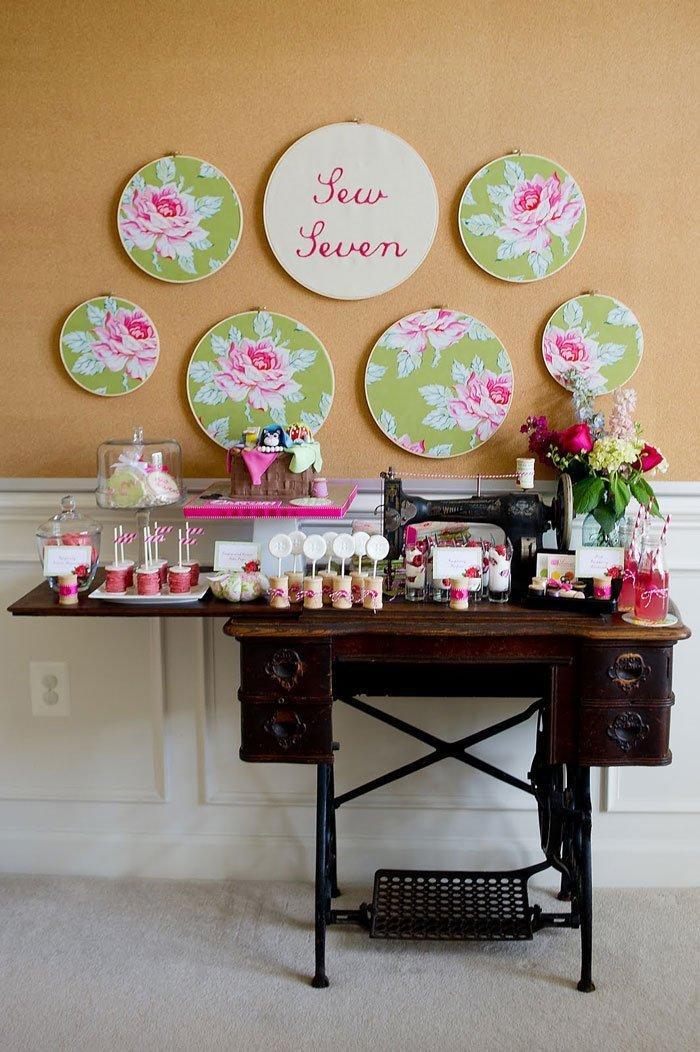 vintage sewing party