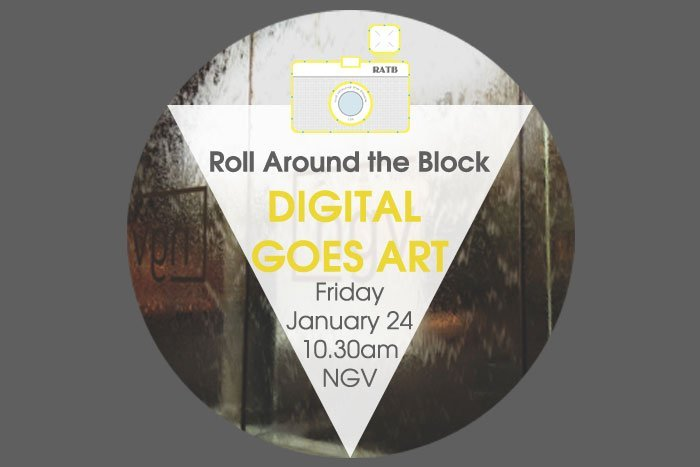 Roll Around the Block Digital Goes Art workshop
