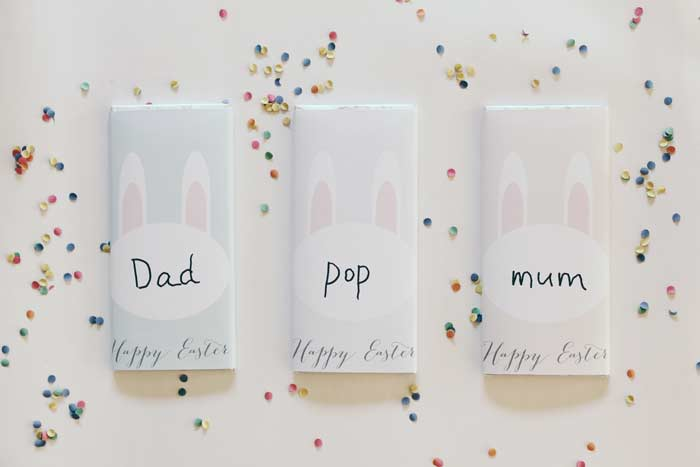 DIY Easter Chocolate Wrappers