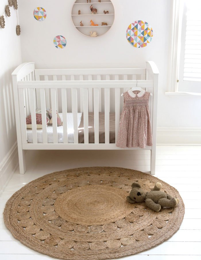 Baby girl's nursery, via Armadillo & Co