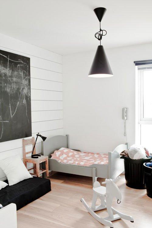 pink & grey girl's bedroom