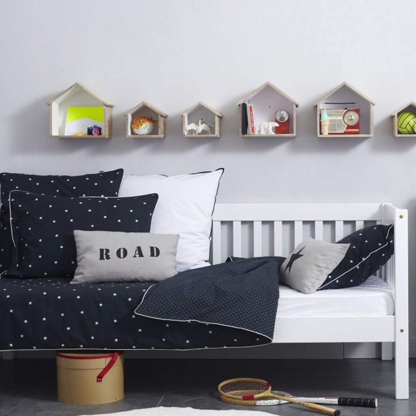 10 black and white kids rooms - tiny & little