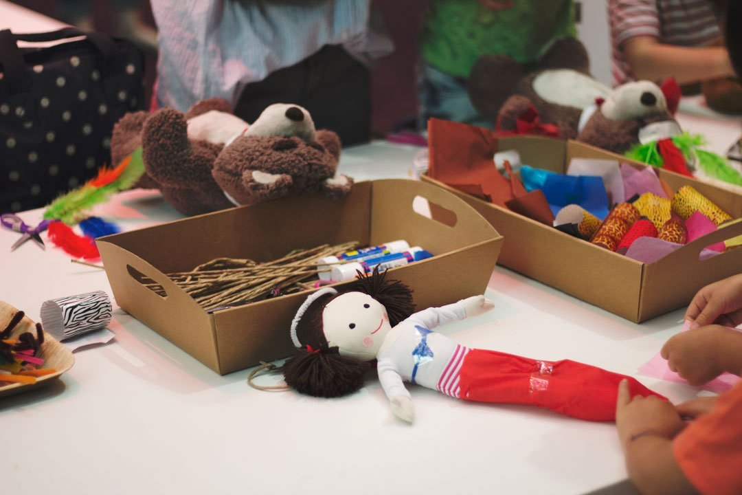 Paper Threads workshop by tiny & little and Meetoo, National Gallery of Victoria Children's Festival 2015