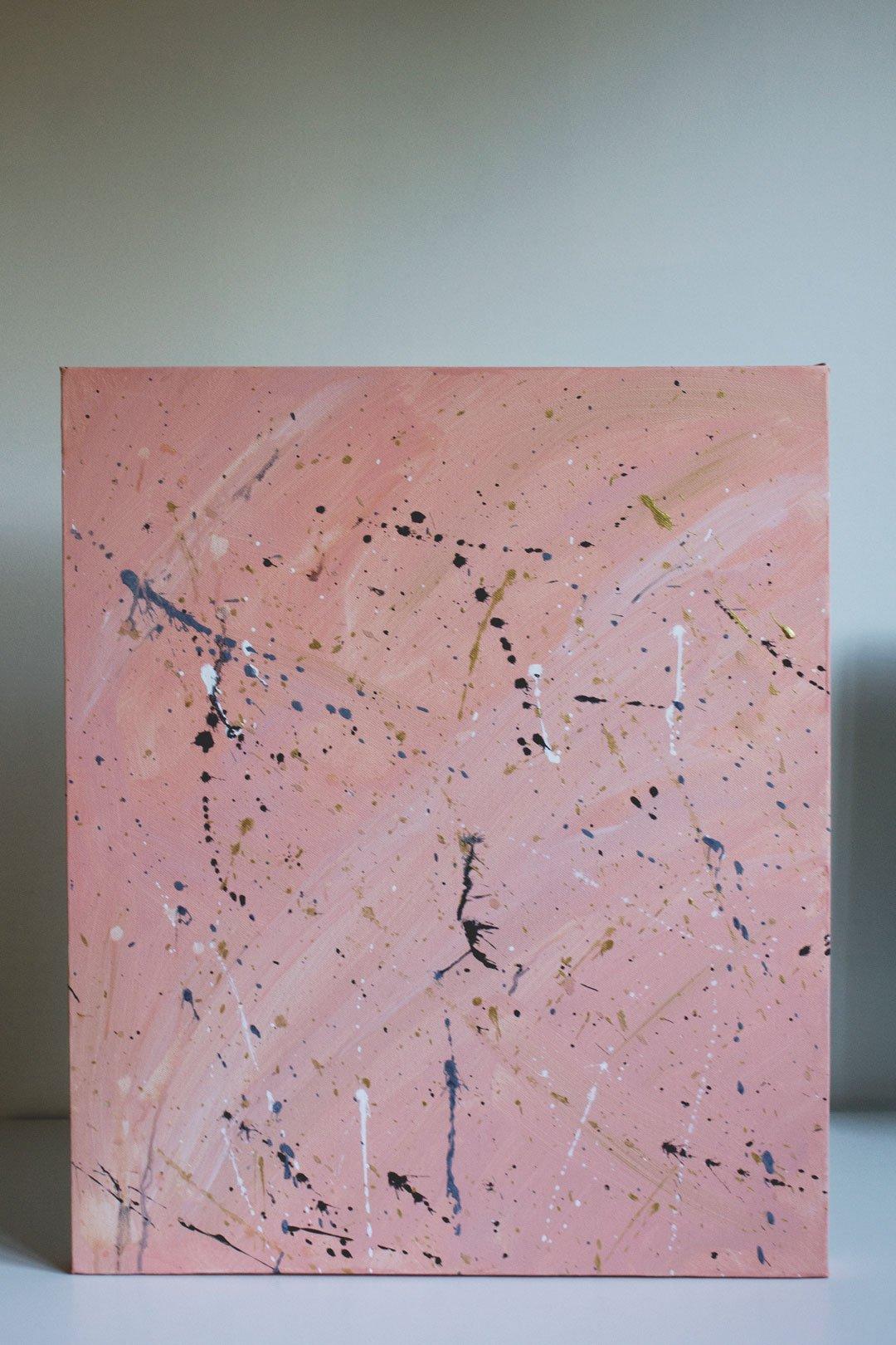 splatter painting kids abstract art