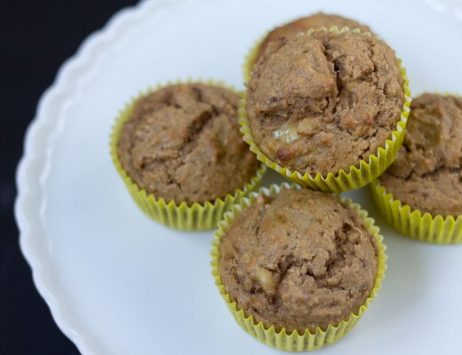 The power of two - easy banana muffins recipe by tiny & little