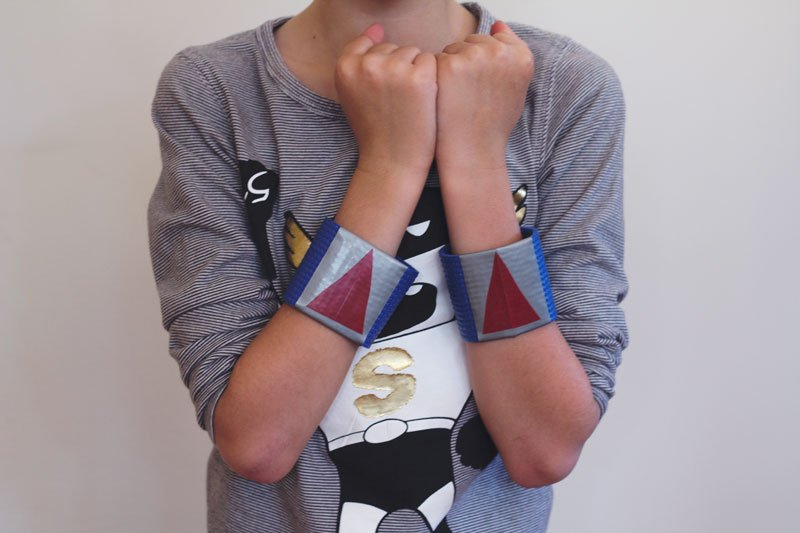 superhero wrist guard kids craft