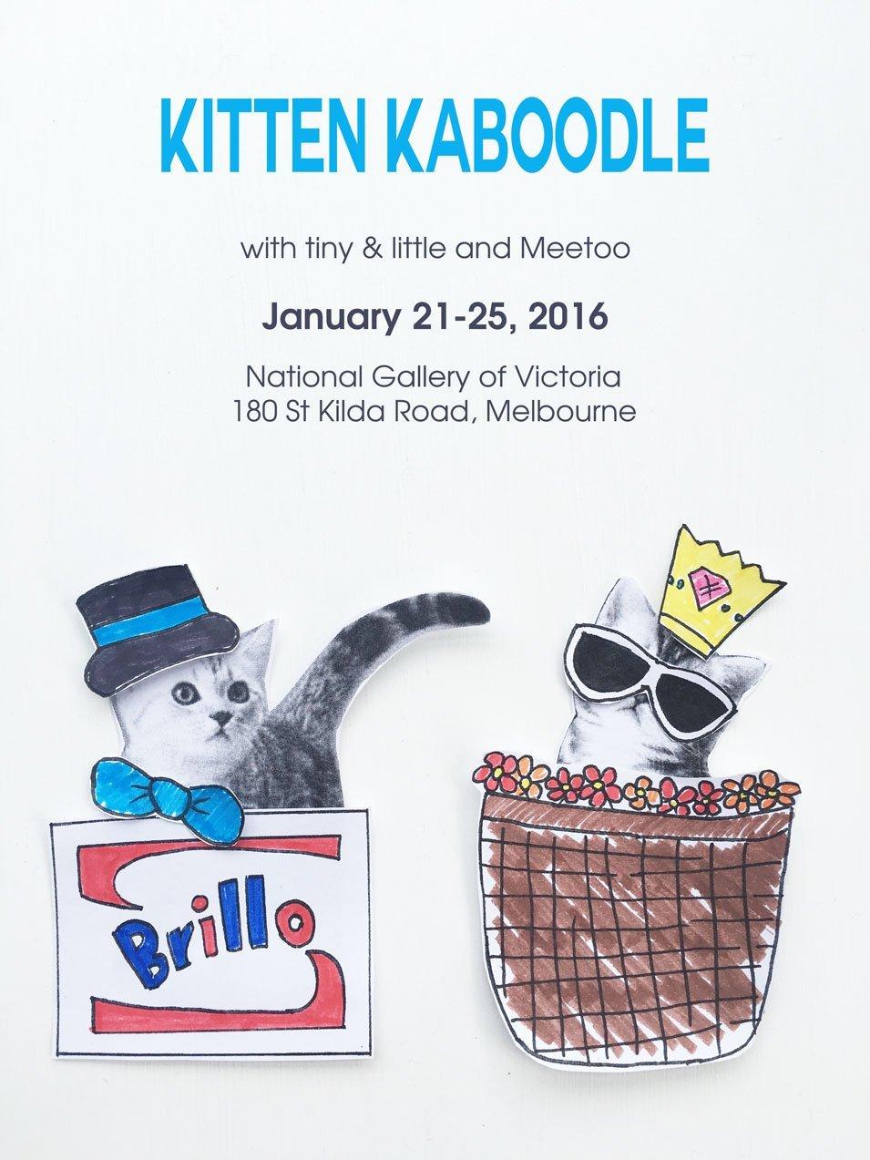 tiny & little's kids workshop at the NGV Children's Festival - Kitten Kaboodle